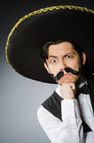 Mexican man in funny Royalty Free Stock Photos