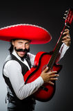 Mexican man with guitar Royalty Free Stock Photo