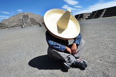 Mexican man having a siesta Royalty Free Stock Images