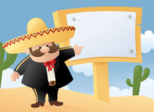 Mexican Man Message Stock Images