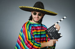Mexican man with movie board Stock Photography