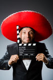 Mexican man with movie Stock Images