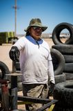 Mexican man. Portrait of a strong mexican man. royalty free stock images