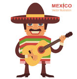 Mexican man singer with guitar Stock Image