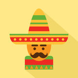 Mexican man in sombrero Royalty Free Stock Images