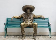 Mexican man statue stock image