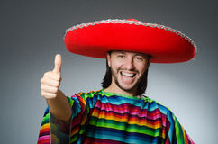 The mexican man with thumbs up Royalty Free Stock Photography