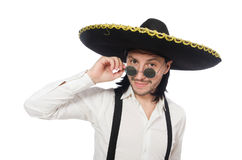 Mexican man wearing sombrero Stock Photography