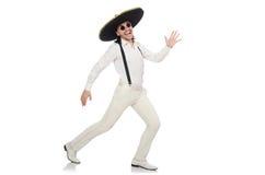 Mexican man wearing sombrero Royalty Free Stock Photos