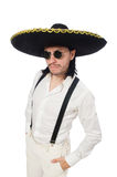Mexican man wearing sombrero Stock Images