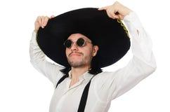 Mexican man wearing sombrero Stock Photos