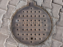 Mexican Manhole Cover Royalty Free Stock Images