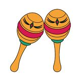Mexican maracas latin percussion instrument. Vector illustration graphic design vector illustration