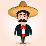 Mexican mariachi character classic Royalty Free Stock Photography