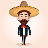 Mexican mariachi character classic Royalty Free Stock Images