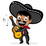 Mexican mariachi man playing the guitar Royalty Free Stock Image