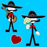Mexican mariachi pictogram cartoon2 Royalty Free Stock Image