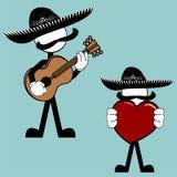 Mexican mariachi pictogram cartoon3 Stock Photos