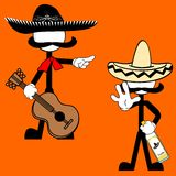 Mexican mariachi pictogram cartoon4 Royalty Free Stock Photography