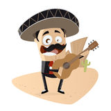 Mexican mariachi singer royalty free illustration