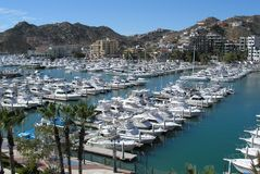 Mexican marina. Marina in Cabo San Lucas, Mexico Royalty Free Stock Image