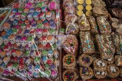 Mexican market on Day of the Dead. royalty free stock photos