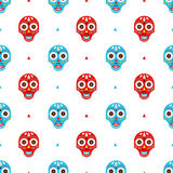 Mexican masks pattern Stock Images