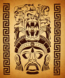 Mexican Mayan motifs - symbol - paper texture. Poster - card - template Royalty Free Illustration