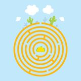 Mexican maze vector illustration Royalty Free Stock Images