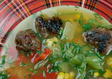Mexican Meatball Soup Stock Photo