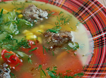 Mexican Meatball Soup Stock Image