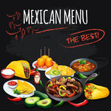 Mexican menu. Royalty Free Stock Photo