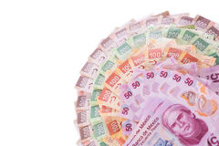 Mexican money background Stock Photography