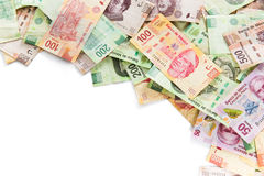Mexican money background Stock Images