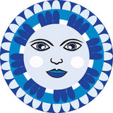 Mexican Moon face Stock Image