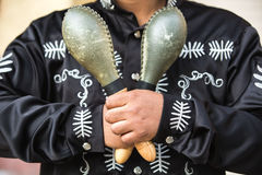 Mexican musician with maracas Stock Photo