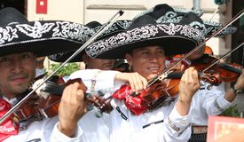 Mexican musicians Stock Images