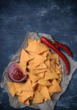 Mexican nacho chips Stock Photography