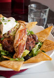 Mexican nachos with grilled chicken Royalty Free Stock Photography