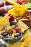 Mexican Nachos with Salsa Dip Royalty Free Stock Photos