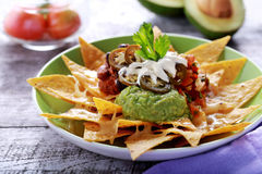 Mexican nachos supreme stock images