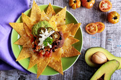 Mexican nachos supreme Royalty Free Stock Photography