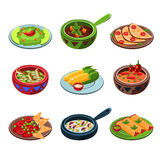Mexican National Food Set Stock Photography