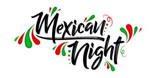 Mexican night vector banner celebration design Stock Photo