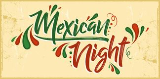 Mexican night vector banner celebration design Stock Photos