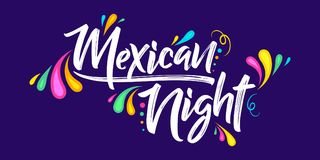 Mexican night vector banner celebration design Royalty Free Stock Photography