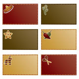 Mexican note cards Royalty Free Stock Image