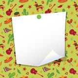 Mexican note paper vector illustration
