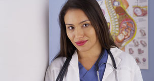 Mexican obstetrician standing in office. Looking at camera Royalty Free Stock Image