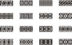 Mexican ornamental designs. A set of 16 Mexican ornamental designs Royalty Free Stock Image